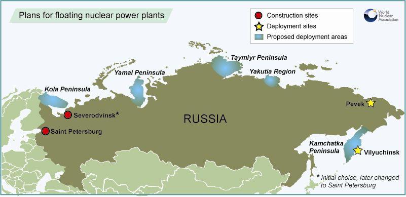 Umístění plovoucí JE na Čukotce bude známo do roku 2015