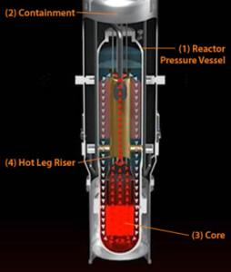 Nákres vnitřních součástí reaktoru NuScale. (Zdroj: Nuscalepower.com)