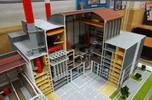 Model bloku jaderné elektrárny s reaktorem BN-800. (Zdroj: Denisporubov.com)