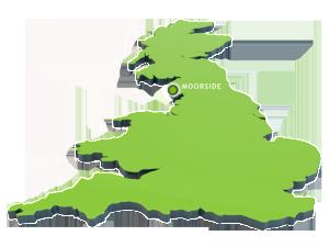 Přibližné místo lokality pro novou jadernou elektrárnu leží poblíž jaderného střediska Sellafield. (Zdroj: Nugeneration.com)