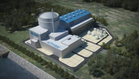 Virtuální model jednoho bloku jaderné elektrárny s reaktorem typu ACP-1000. (Zdroj: World Nuclear News)