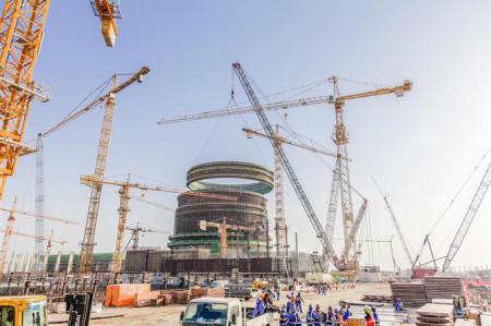Nové povolení znamená, že v podobném stavu se budou za několik let nacházet i další dva bloky v jaderné elektrárně Barakah. (Zdroj: Uaeinteract.com)