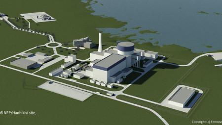 Předběžná představa o podobě budoucí finské jaderné elektrárny Hanhikivi. (Zdroj: Ria.ru)