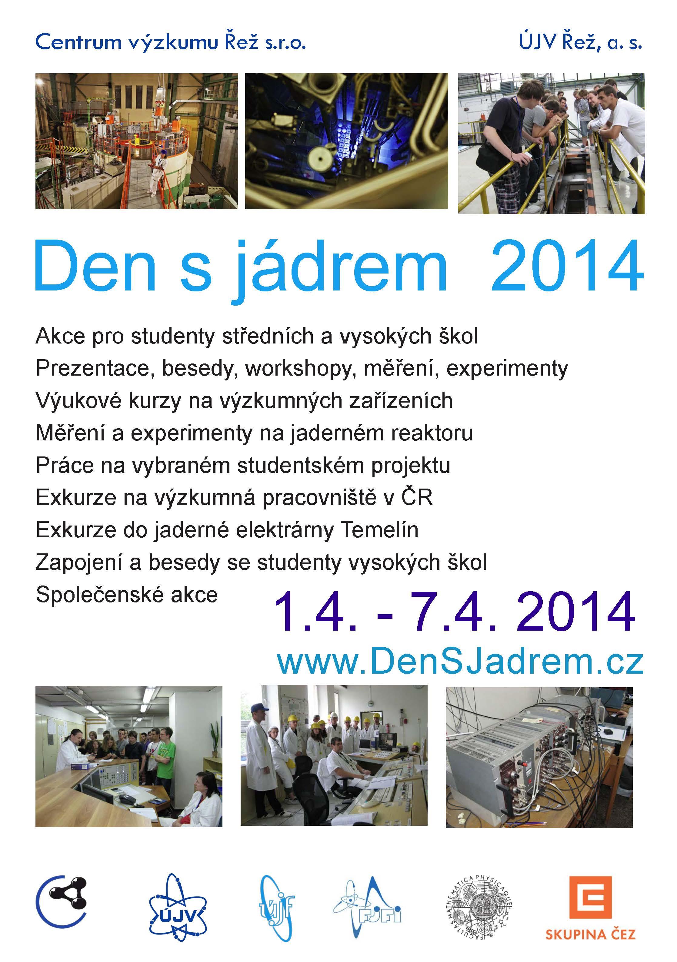 V Řeži připravují seminář pro studenty Den s jádrem 2014