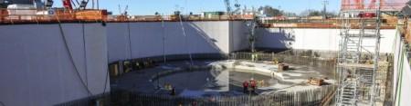 Bloky elektrárny Vogtle budou zřejmě jedinou jadernou elektrárnou, která získá úvěr v rámci úvěrového programu americké vlády. (Fotografie je z ledna tohoto roku.) (Zdroj: World Nuclear News)