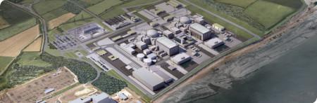 Model budoucí podoby dvou nových bloků v jaderné elektrárně Hinkley Point C, které zde bude stavět společnost EDF. (Zdroj: Edfenergy.com)