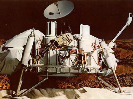Model přistávacího modulu sondy Viking 1. (Zdroj: Jpl.nasa.gov)