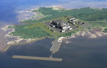 Představa o budoucí podobě bloku VVER-1200 AES-2006 v lokalitě Hanhikivi. (Zdroj: World Nuclear News)
