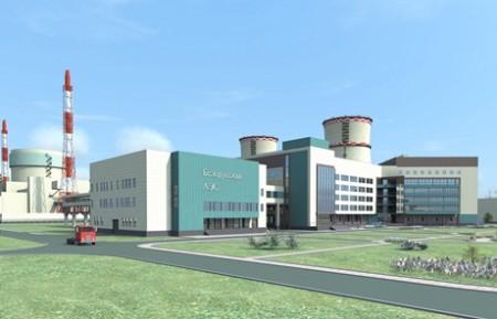 Vizualizace první běloruské jaderné elektrárny
