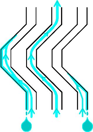 Jak to funguje? Zjednodušeně řečeno jde o to, znesnadnit vodní páře cestu vzhůru (tedy ven z chladicí věže). Při průchodu díly z předchozí fotografie se značná část vodní páry dostává do styku s pevným povrchem, na němž kondenzuje. (Zdroj: Atominfo.cz)