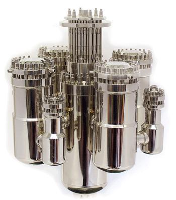 VBER-300, menší bratr plánovaného reaktoru VBER-600, který má být nejvýkonnějším reaktorem z unifikované řady reaktorů malého a středního výkonu. (Zdroj: Atomic-energy.ru)