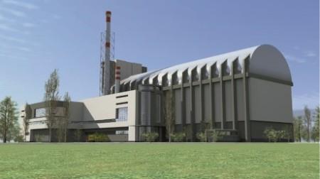 Takto by jednou mohly vypadat budovy reaktoru MBIR. (Zdroj: World Nuclear News)