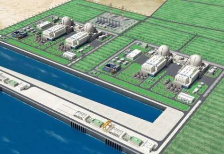 Čtyřblokový projekt JE Barakah, jehož hlavním projektantem je společnost Kepco. (Zdroj: World Nuclear News)