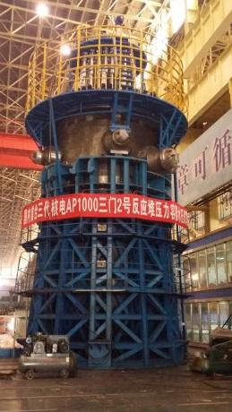 V Číně byla vyrobena první tlaková nádoba pro tamní reaktor AP1000