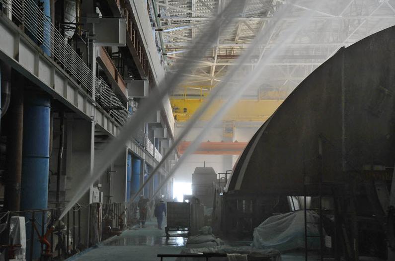 Fotografie: Na třetím bloku Rostovské JE proběhla zkouška protipožárních systémů