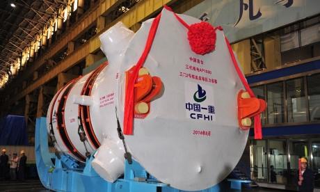 Tlaková nádoba čínské produkce byla doručena pro reaktor AP1000 v San-menu