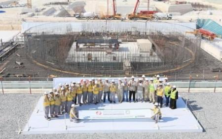 Barakah 3 first concrete 460 (WAM)