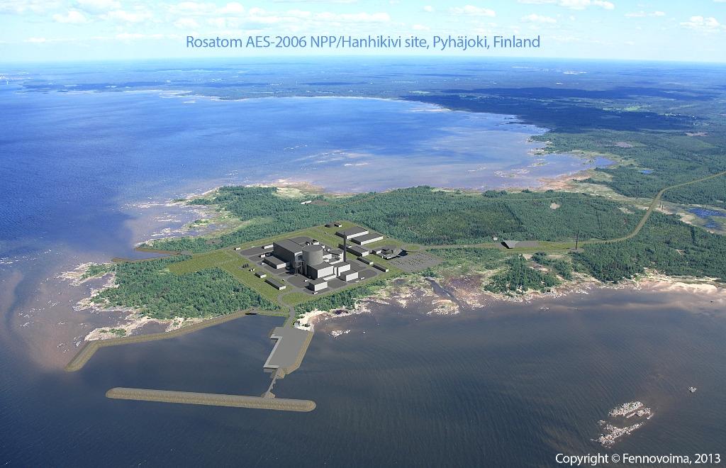 V JE Hanhikivi může být postaven blok s VVER-1200, finská vláda schválila změnu projektu