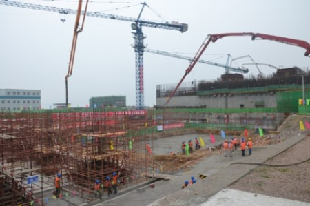 Shidaowan HTR - first concrete conventional island 460 (CNEC)