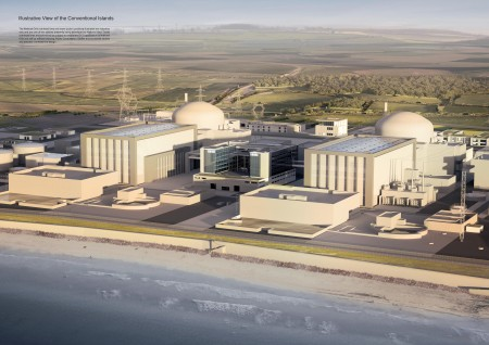 Illustrative view of twin reactors Hinkley Point C