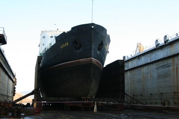 Loď Lepse je v suchém doku, kde proběhne její likvidace