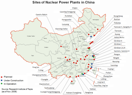EJAM1-3-GA6-Fig.1(small)_Sites_of_Nuclear_Power_Plants_in_China