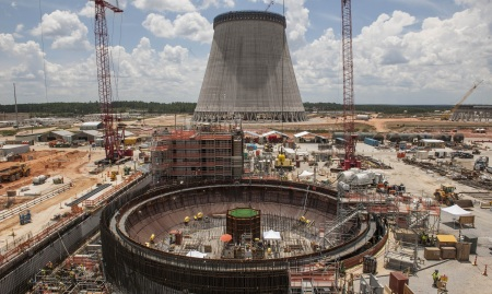 Vogtle 3 Nuclear Island - July 2014 - HRES