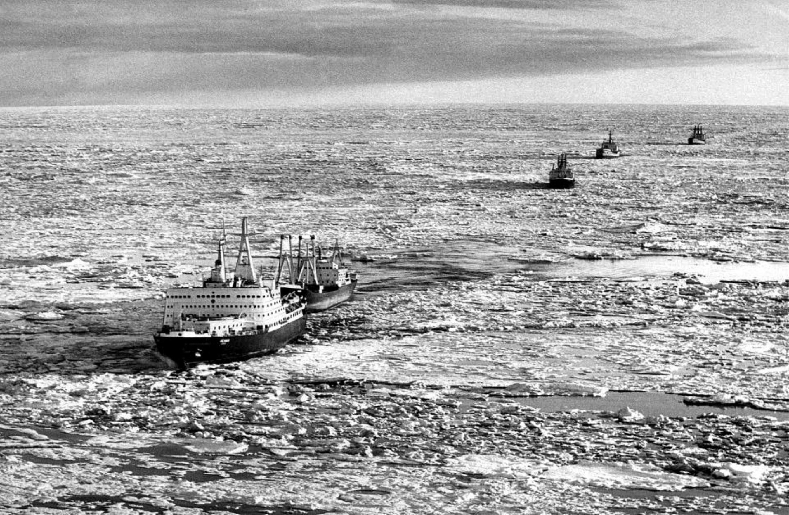 Práce jaderných ledoborců a práce na jejich palubě