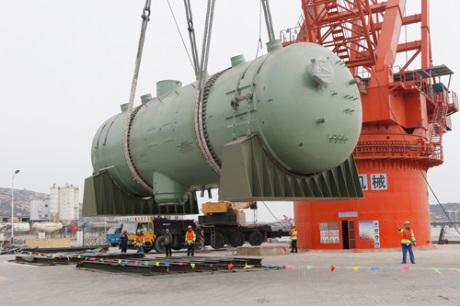 Do jaderné elektrárny Tchien-wan dorazil třetí parogenerátor