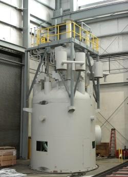 NuScale dokončila maketu horní části malého modulárního reaktoru