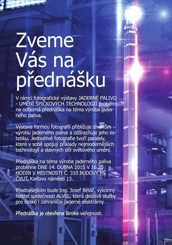 Přednáška o výrobě jaderného paliva, 14. 4. 2015