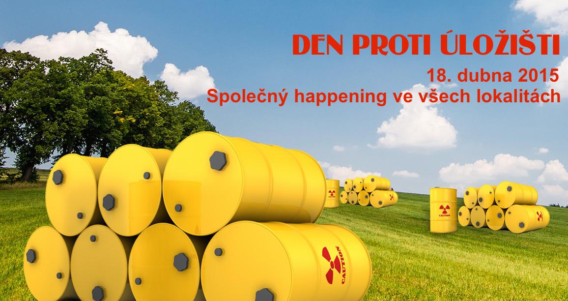 Na sedmi místech ČR dnes proběhnou protestní akce proti úložišti jaderného odpadu