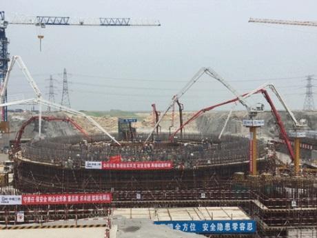 Čína začala budovat první blok sreaktorem Hualong One