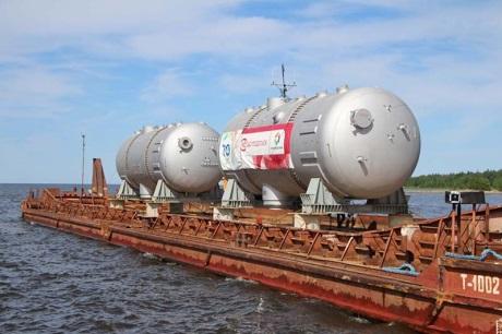 Na staveniště jaderné elektrárny Leningrad II byly dodány první parogenerátory