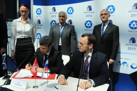Rusko a Tunisko podepsaly memorandum o porozumění v oblasti jaderné energie