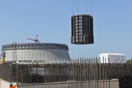 Na čtvrtém bloku jaderné elektrárny Vogtle byla instalována šachta reaktoru