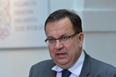 Ministr prùmyslu a obchodu Jan Mládek vystoupil 10. února na tiskové konferenci ÈSSD v Poslanecké snìmovnì v Praze.