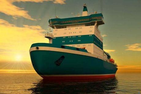 Výroba vlajkové lodě nové třídy jaderných ledoborců pokračuje