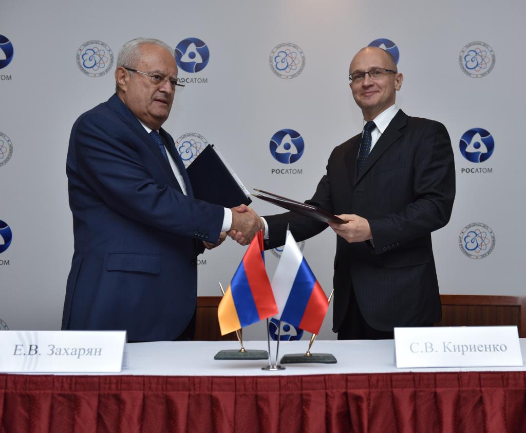Rosatom rozšiřuje spolupráci sArménií voblasti jaderné bezpečnosti a při prodlužování provozu tamní jaderné elektrárny