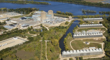 A file photograph shows the area round the Prairie Island nuclear plower plant near Red Wing, Minn. On Thursday, Xcel Energy officials reported a bleach leak at the plant, but said there was no public danger.