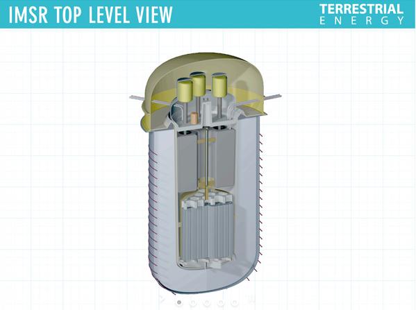 Společnost Terrestrial Energy zajistila financování projektu reaktoru na bázi roztavených solí