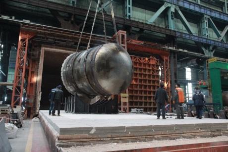 Společnost AEM Technology pokročila při výrobě tlakové nádoby reaktoru pro Běloruskou jadernou elektrárnu