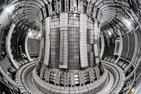 Interior view of the Jet Vacuum Vessel following completion of the EP2 Iter like wall shutdown - May 2011