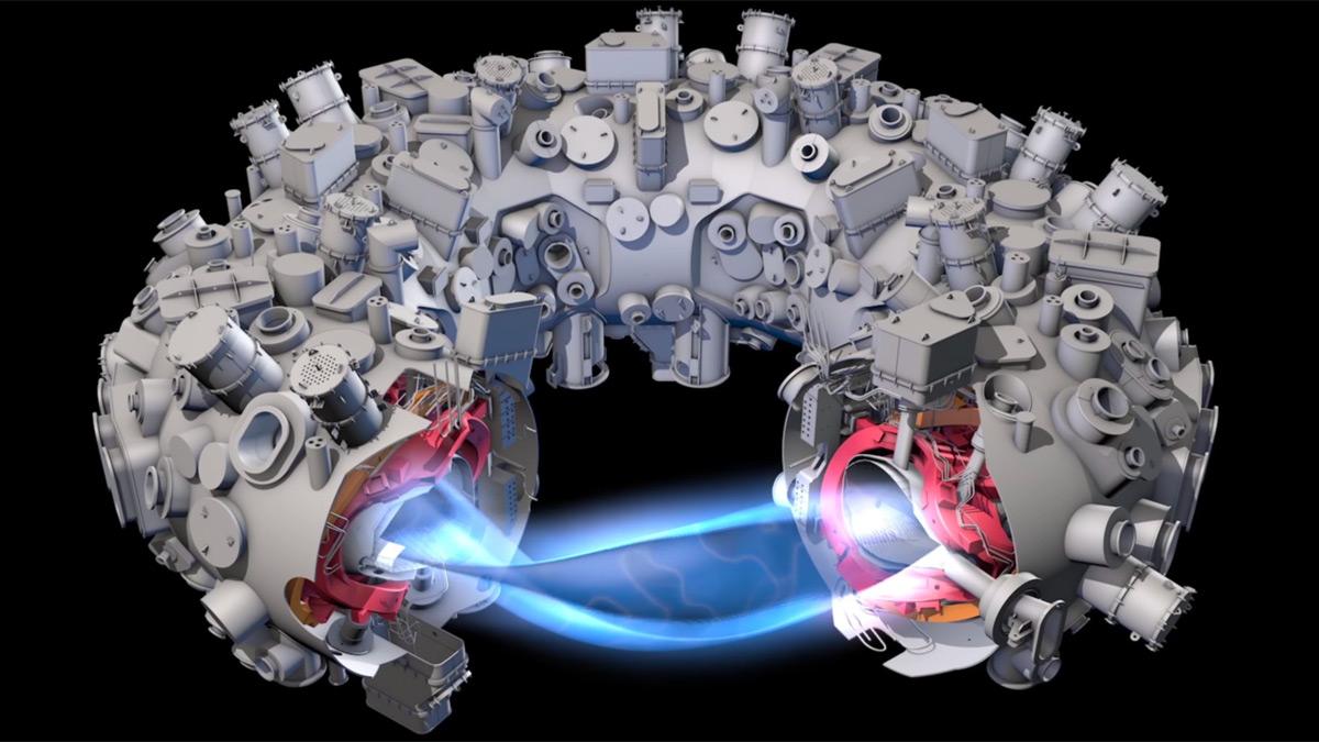 Stellarátor Wendelstein 7-X vyprodukoval první vodíkové plazma