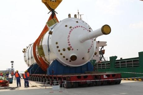 Do JE Š'-tao-wan byla dodána reaktorová nádoba pro první čínský vysokoteplotní reaktor HTR-PM