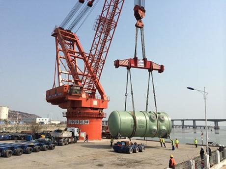 Do čtvrtého bloku JE Tchien-wan byla dodána reaktorová nádoba