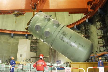 Na čtvrtém bloku JE Tchien-wan byla nainstalována tlaková nádoba reaktoru