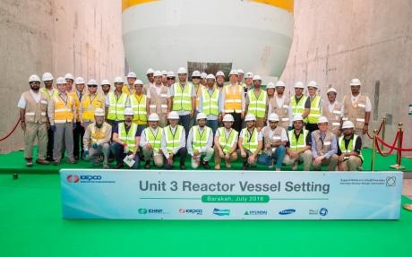 Na třetím bloku JE Barakah byla instalována tlaková nádoba reaktoru