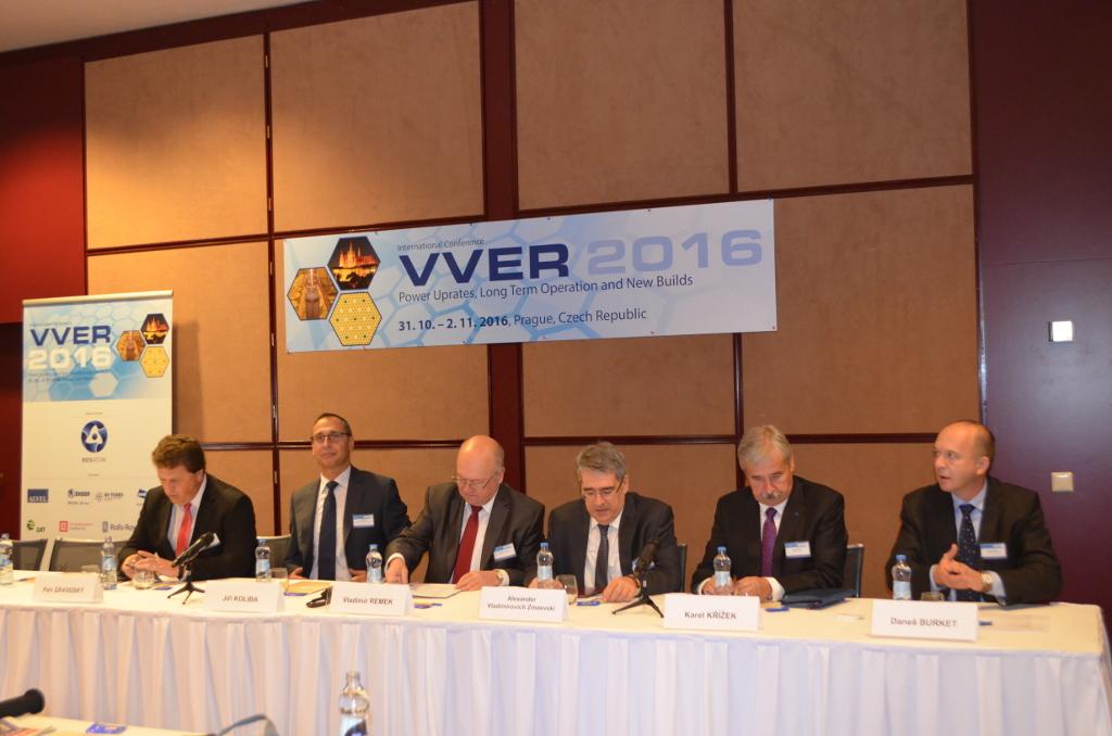 Zástupci 17 zemí se vPraze sešli na mezinárodní konferenci VVER 2016