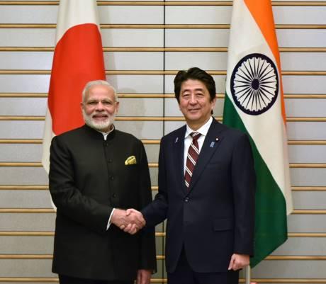 The Prime Minister, Shri Narendra Modi with the Prime Minister of Japan, Mr. Shinzo Abe, at Kantei (Japan Prime Minister's Official Residence), in Tokyo, Japan on November 11, 2016. The Prime Minister, Shri Narendra Modi with the Prime Minister of Japan, Mr. Shinzo Abe, at Kantei (Japan Prime Minister's Official Residence), in Tokyo, Japan on November 11, 2016.
